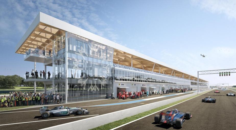 FNX-INNOV a aussi participé au projet des nouveaux paddocks au circuit Gilles-Villeneuve.