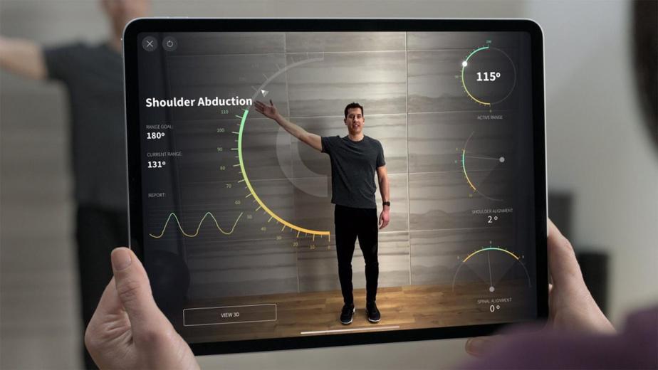 L'écran de 12,9pouces offre un taux de rafraîchissement élevé de 120Hz, avec 2732pixels sur 2048.