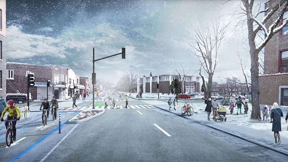 Après Intersection des rues Lajeunesse et Louvain