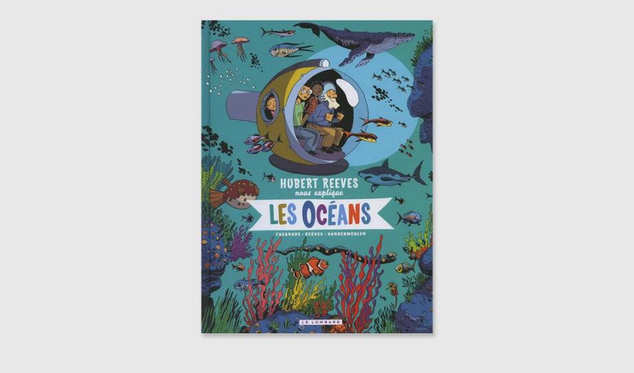 SI VOUS AIMEZ… LES OCÉANS Hubert Reeves–oui, oui, le célèbre astrophysicien né à Montréal–se balade en bord de mer avec une dame et deux enfants. Pourquoi la Terre, qui est recouverte aux trois quarts d'eau, ne s'appelle-t-elle pas la Mer? demande le garçon. Parce que les océans n'ont que 3 ou 4kilomètres de profondeur, répond le scientifique. Dans cette bande dessinée documentaire réussie, les questions–et les réponses–sur les océans s'enchaînent, et c'est passionnant. Hubert Reeves nous explique les océans, scénario d'Hubert Reeves et David Vandermeulen, dessins de Daniel Casanave, couleurs de Claire Champion, éditions Le Lombard. Dès 8ans.