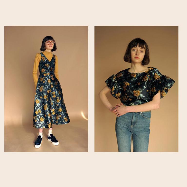 Vous habillez-vous à la maison comme vous le faites pour aller travailler au bureau? Sur la photo, des créations signées par la marque québécoise ElizaFaulkner.