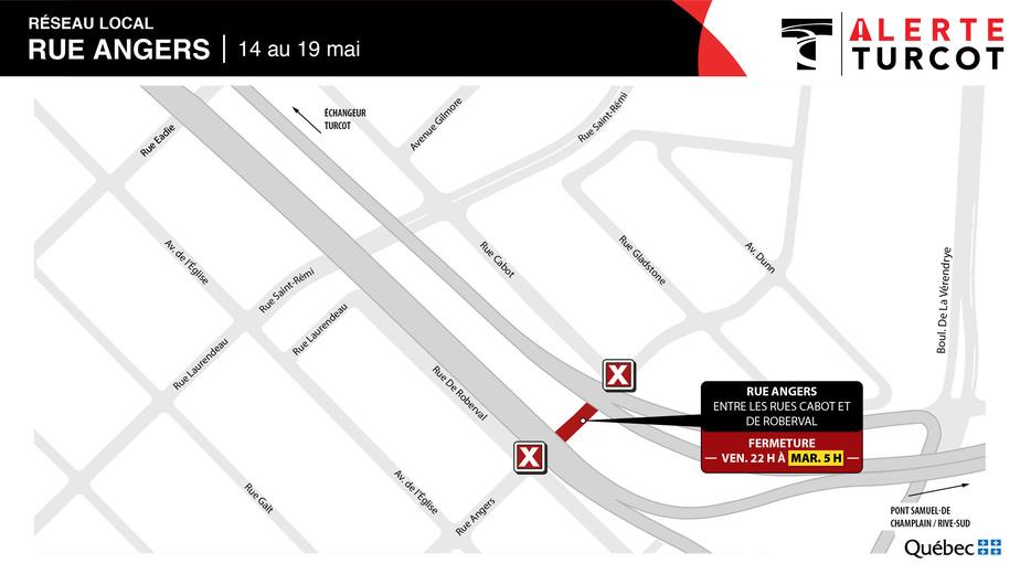 Fermeture sur le réseau local–Rue Angers
