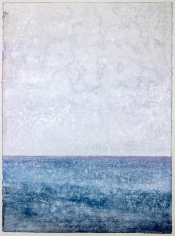 Soft Sea, 2020,Rick Leong, huile sur papier, 76cm x 56cm