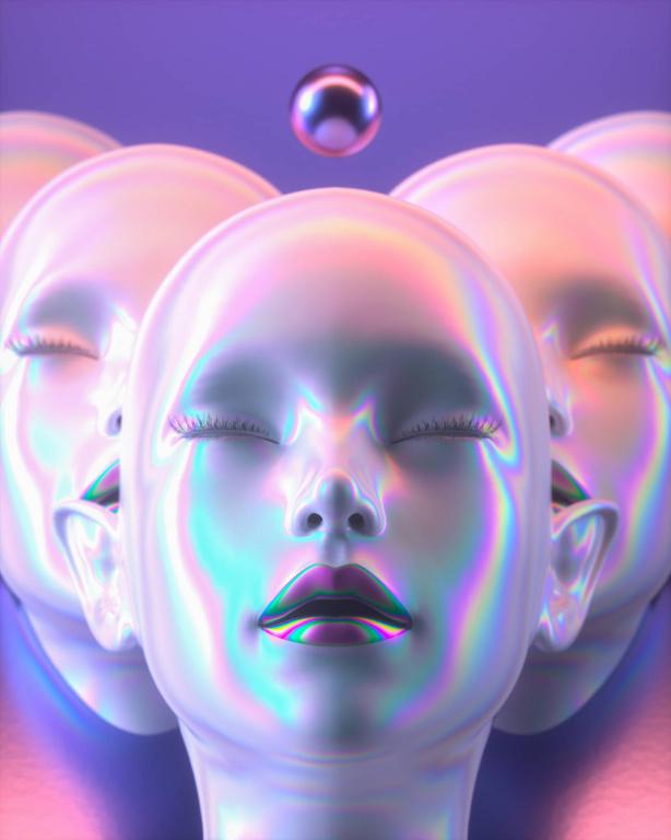 MULTIPLE//Day1660.Œuvre numérique de Fvckrender placée par l'artiste sur Instagram le 16avril dernier avec la mention «Feeling calm and stress free right now how about you?».