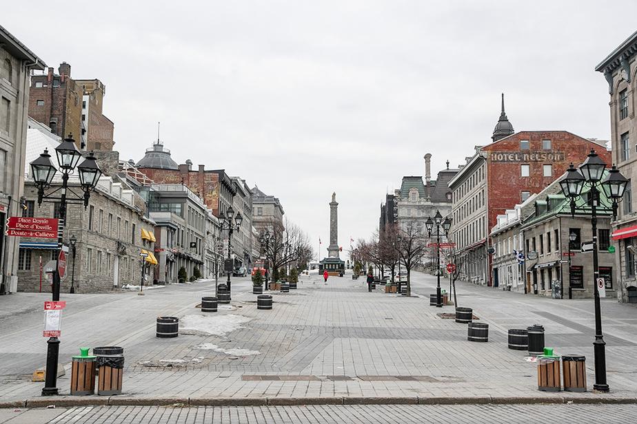 Un Vieux-Montréal sans touristes ni voitures