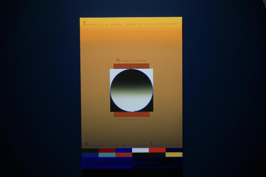 The Oracle, 2019, Nicolas Grenier, huile et acrylique sur toile, 91,5cm x 61cm.