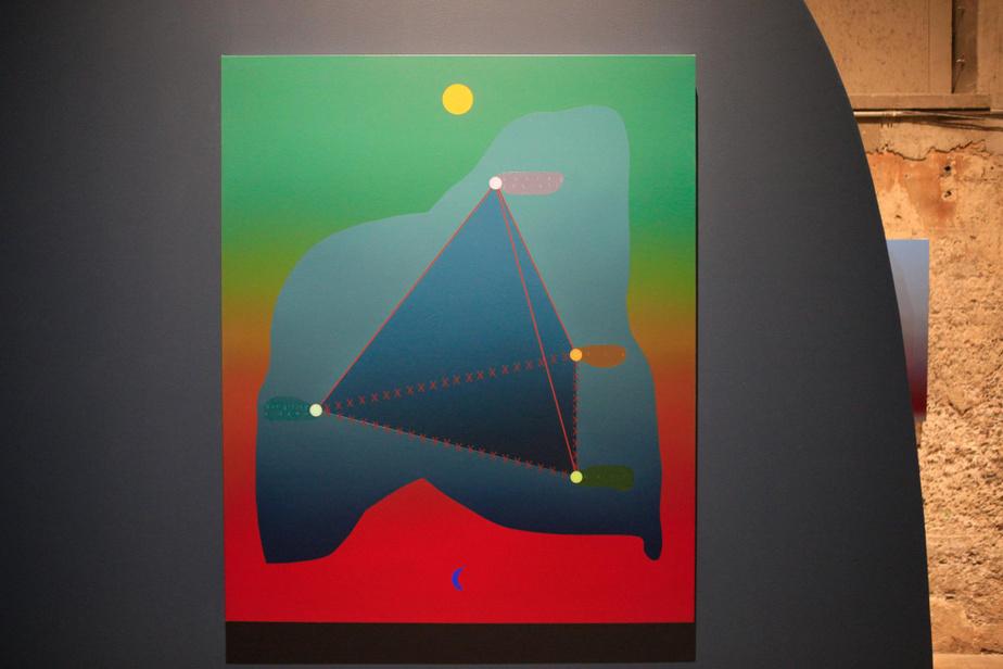 Positions, 2019, Nicolas Grenier, huile sur toile, 127cm x 101,5cm.