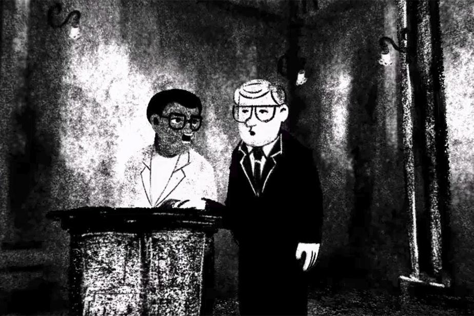 Image tirée du film Accused No.2: Walter Sisulu, sur le procès de Sisulu et Mandela en Afrique du Sud en 1964. Réalisation: Nicolas Champeaux et Gilles Porte.