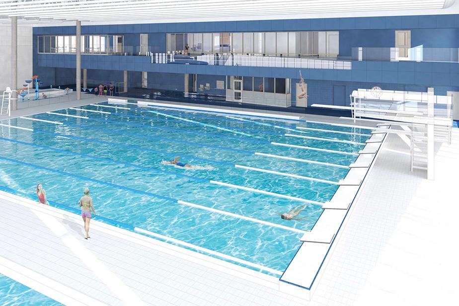 Le projet decomplexe sportif et communautaire comprend notammentun gymnase double, trois piscines, des vestiaires et des locaux multifonctionnels.