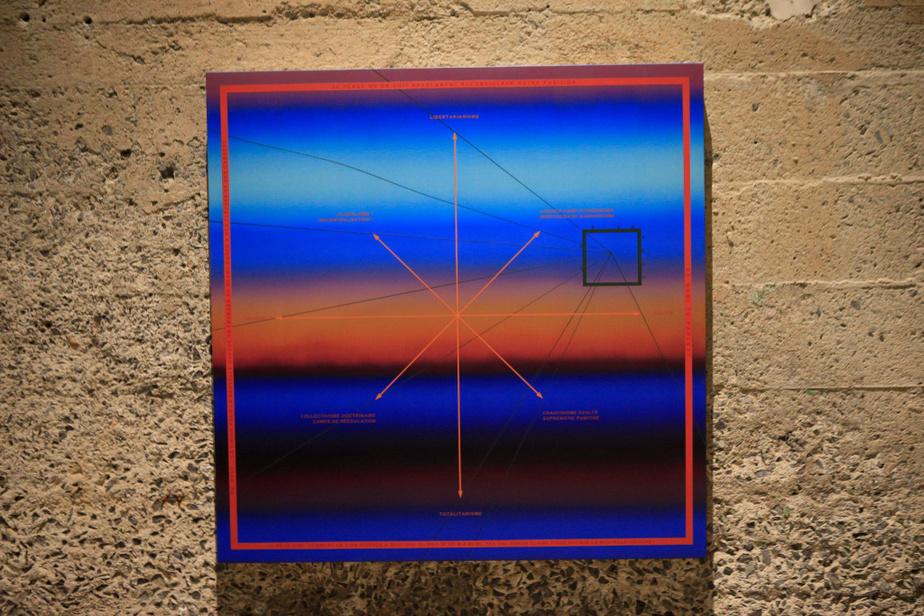 La nouvelle gauche, 2020, Nicolas Grenier, huile et acrylique sur toile, 91,5cm x 91,5cm.