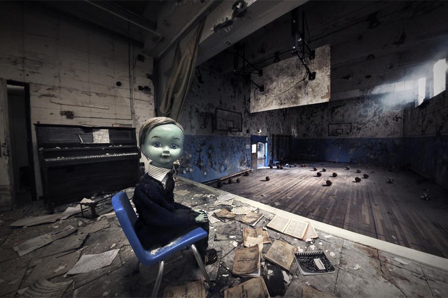 Image tirée du film Gymnasia réalisé par Chris Lavis et Maciek Szczerbowski sur le thème des souvenirs de l'enfance