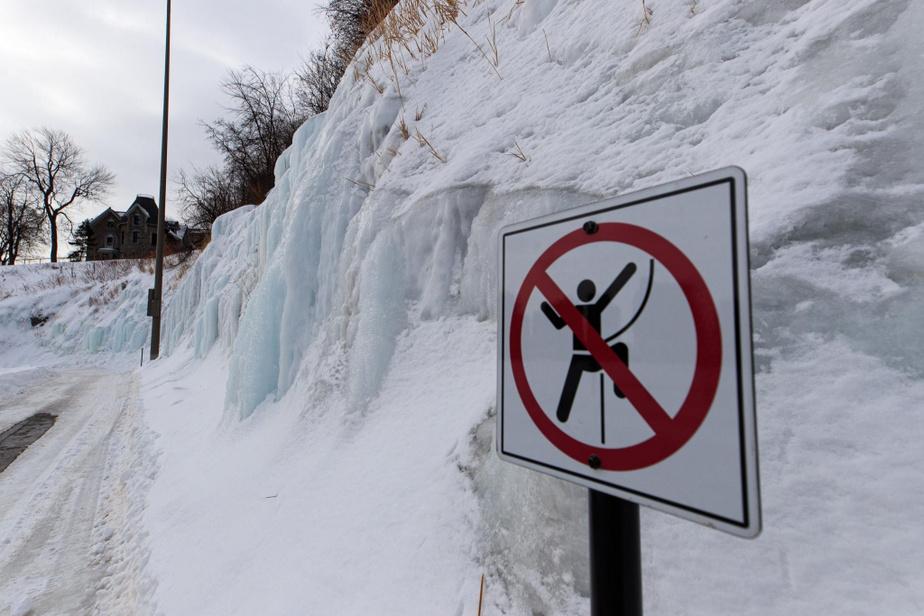 À l'heure actuelle, on ne permet pas l'escalade au réservoir McTavish.
