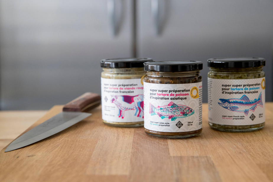 Les trois sauces à tartares Super Super, une entreprise située à Sainte-Thérèse.