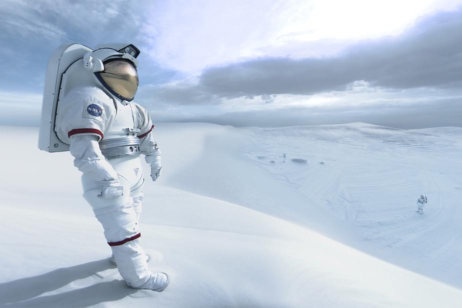 Image tirée du film Space Explorers: Taking Flight, de Félix&Paul Studios, sur la vie et l'entraînement des astronautes