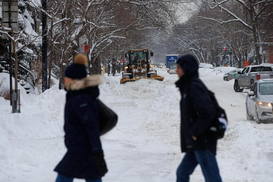 Après un week-end ensoleillé où la lumière étincelait sur la neige tombée jeudi et vendredi, voilà qu'une nouvelle bordée de neige de 15cm s'est ajoutée lundi aux 40cm déjà reçus par la métropole.
