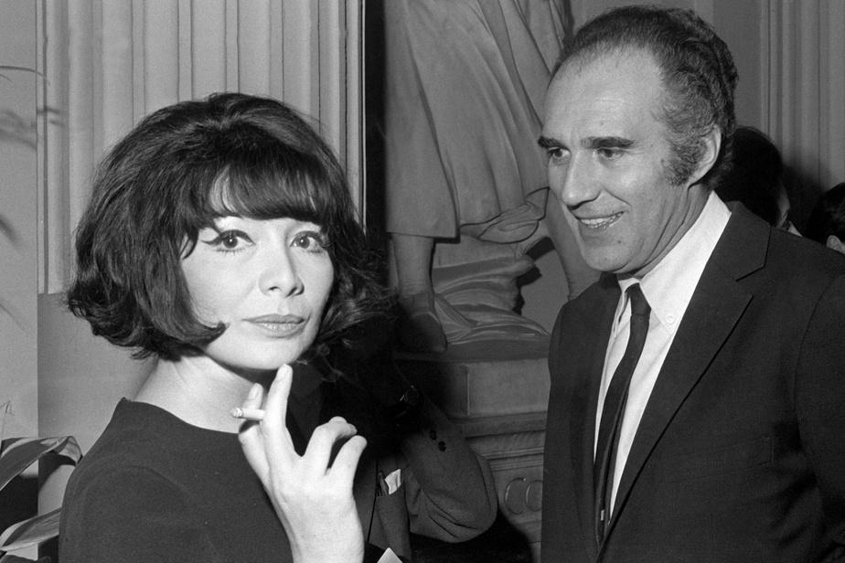 Michel Piccoli avec la chanteuse Juliette Greco en mars1967, à Paris