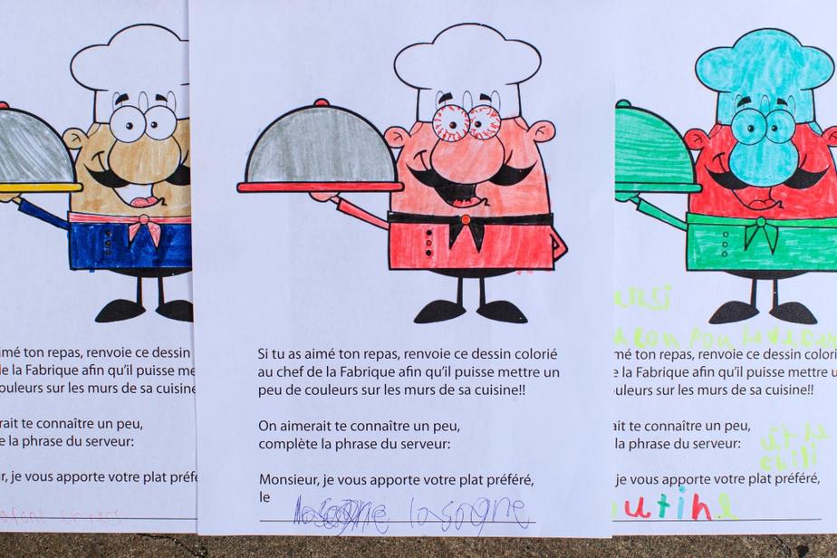 Les jeunes peuvent témoigner leur appréciation à l'aide d'un dessin et de quelques mots.