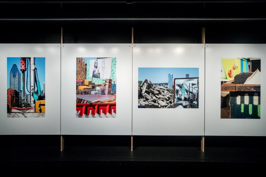 Les photos de Robert Walkertémoignent, juxtaposés, de l'activité présente et, en même temps, de l'histoire qui s'efface.