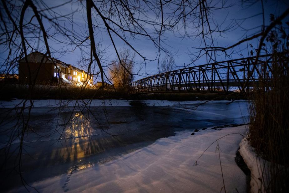 Scène de la rivière Saint-Jacques, à Brossard, sur la Rive-Sud