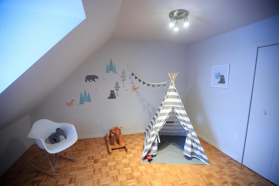 L'ancienne chambre de Sophie Boyer accueille des tout-petits.