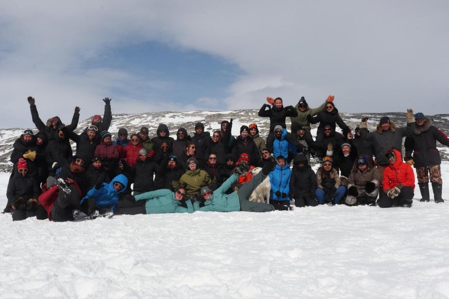 Les participants à une expédition de ski de fond au Nunavik