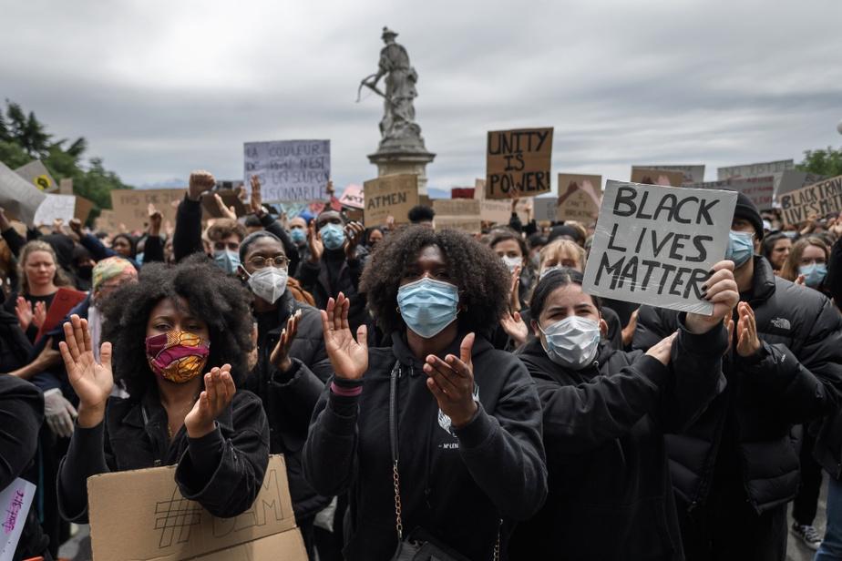 Le slogan Black Lives Matter a été repris dans de nombreuses villes francophones, notamment à Lausanne, en Suisse.