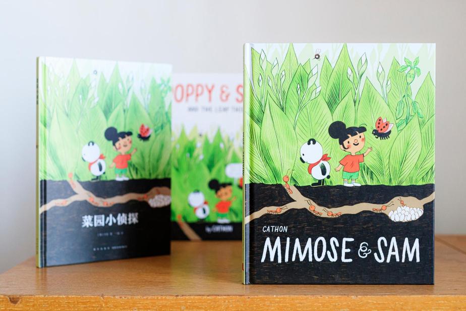 Le premier Mimose et Sam a été traduit en chinois et en anglais–les personnages sont devenus Poppy&Sam.