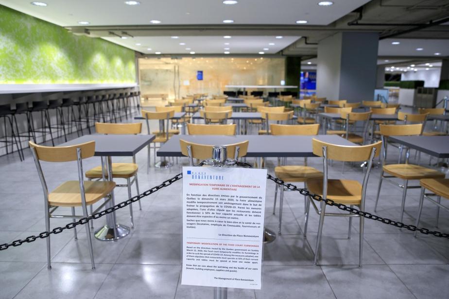 Les tables et les chaises des aires de restauration ne sont pas accessibles au public.