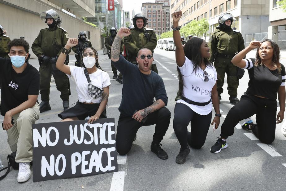 «No justice, no peace», ont clamé ces manifestants à Montréal.