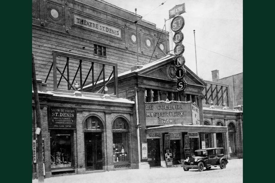 AVANT : Le Théâtre St-Denis, en 1925. À l'époque, c'était le plus grand cinéma de la métropole. Construit en 1915, il est resté ouvert jusque dans les années70 avant d'être transformé en salle de spectacle dans les années80. Il a été complètement rénové en 1998 et abrite maintenant deux salles de 2218 et 933sièges.