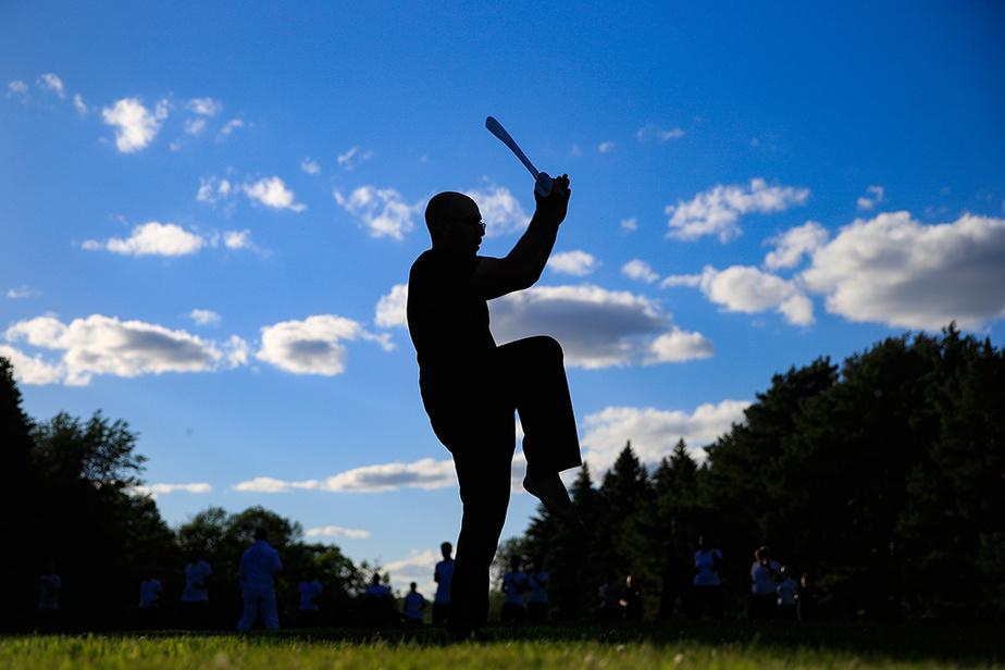Les cours de kung-fu pour adultes ont recommencé au parc Maisonneuve, dès l'autorisation de la Santé publique.