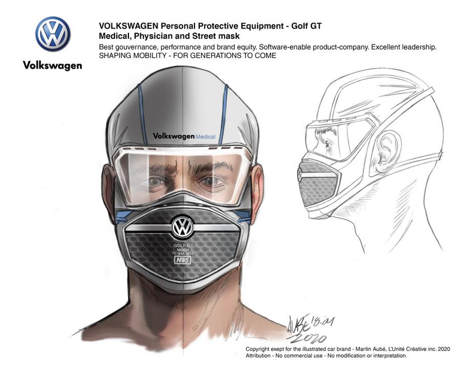 Autour du célèbre logo de Volkswagen, tout se joue dans la texture.