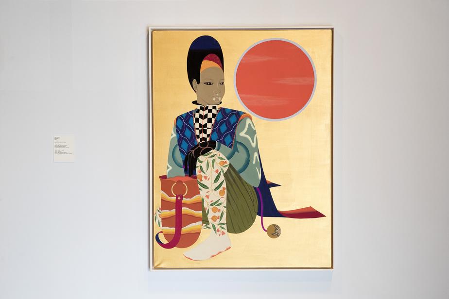 Ancestor1,2019, Rajni Perera, technique mixte sur papier, 121,9cm x 91,4cm. Avec l'aimable permission de la galerie Patel Brown, à Toronto.