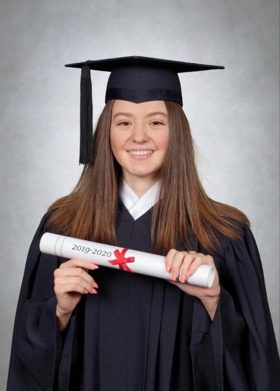 Rosalie Paquette, finissante de 5esecondaire au Collège d'Anjou