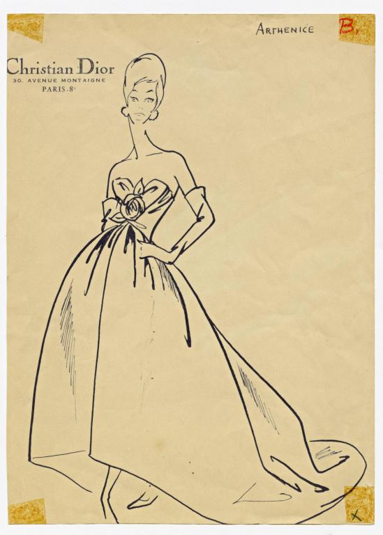 La robe Arthénice, de la collection Automne-hiver1959
