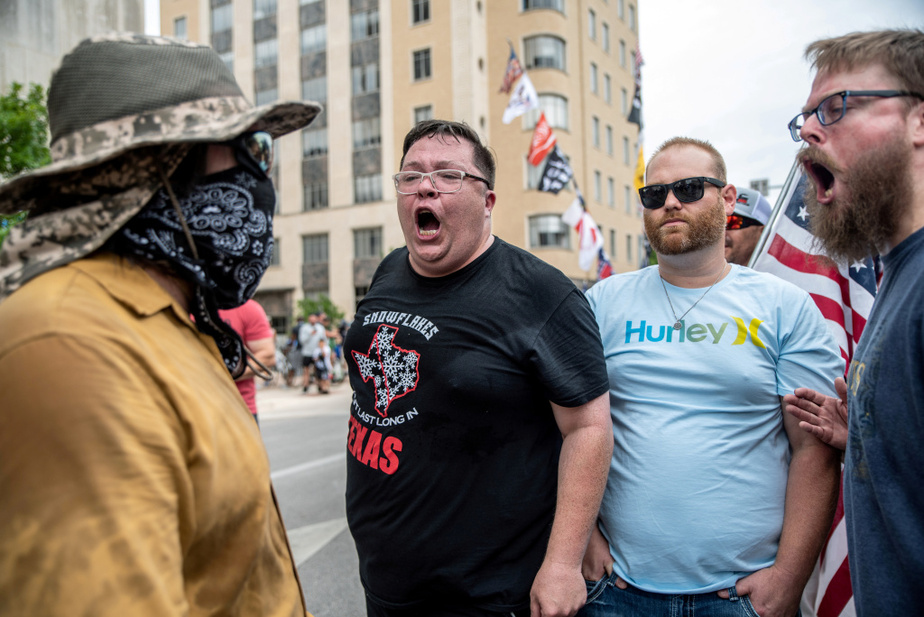 Une manifestation contre le port obligatoire du masque s'est tenue lundi dernier à Austin, au Texas.