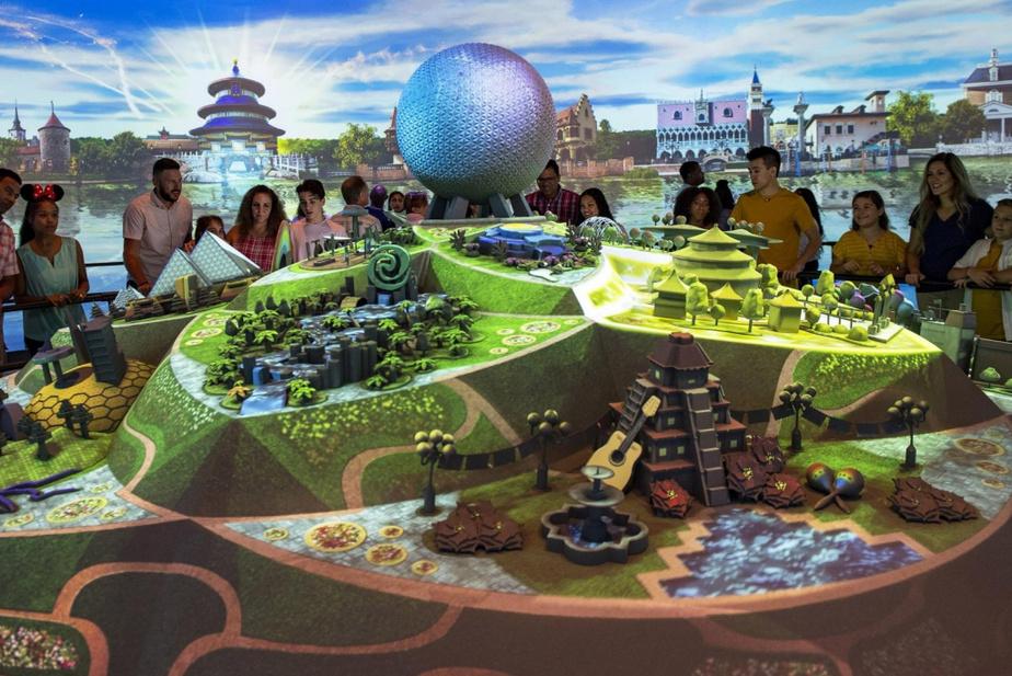 Les visiteurs peuvent d'ores et déjà avoir une idée des nouveautés qu'on leur réserve à Epcot en visitant le pavillon Odyssey Events.