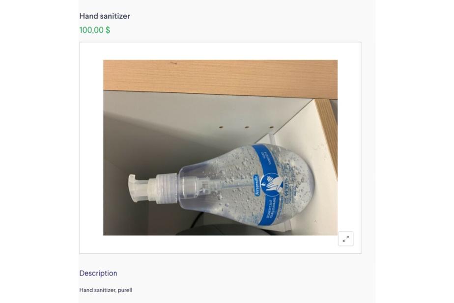 Ce vendeur demandait 100$ pour un gel de marque Personnelle, sur le site Kijiji mardi, alors que le prix courant est plutôt de 4,99$ chez Jean Coutu.