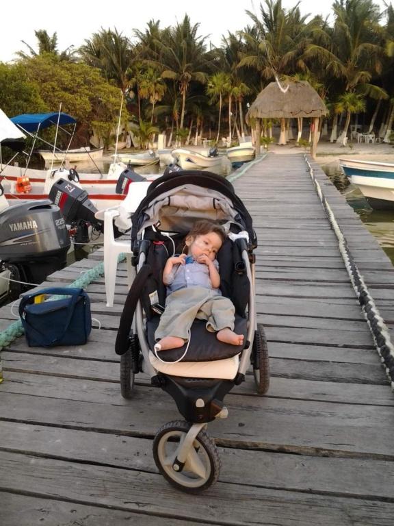 Arrêt sur la plage lors d'un des huit voyages au Mexique