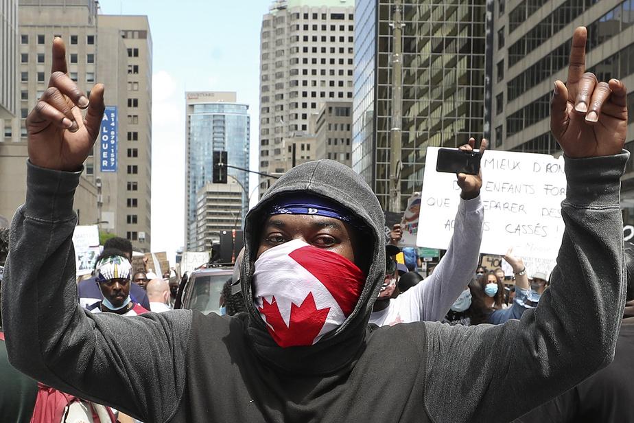 Malgré une arrestation, la majeure partie des manifestants se sont dispersés dans le calme vers 14˙.