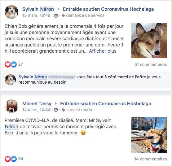 SylvainNéron et MichelTassy ne se connaissaient pas. Ce qui n'a pas empêché l'un d'aller promener le chien de l'autre.