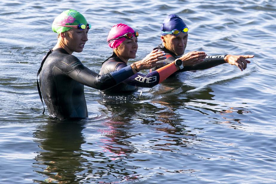Puisque les piscines ont été fermées une partie du printemps, les athlètes d'Alex Sereno se sont rapidement tournés vers les entraînements en eau libre.