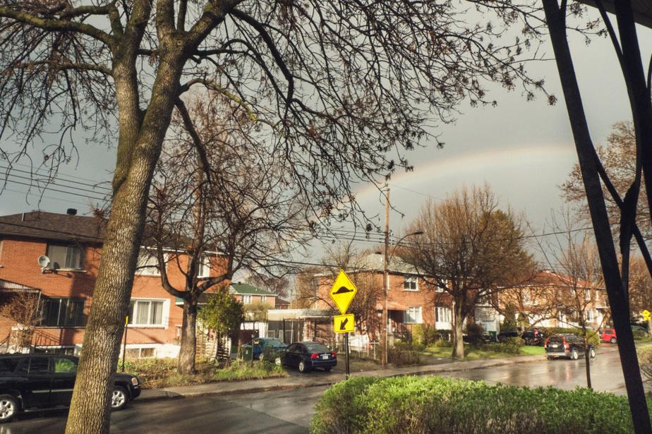 Le titre de cette photo? «#Ça va bien aller» «Il avait plu, évidemment, et là il faisait soleil, se souvient Justine. Il y a eu un arc-en-ciel et je trouvais ça beau. Ça va bien aller.»