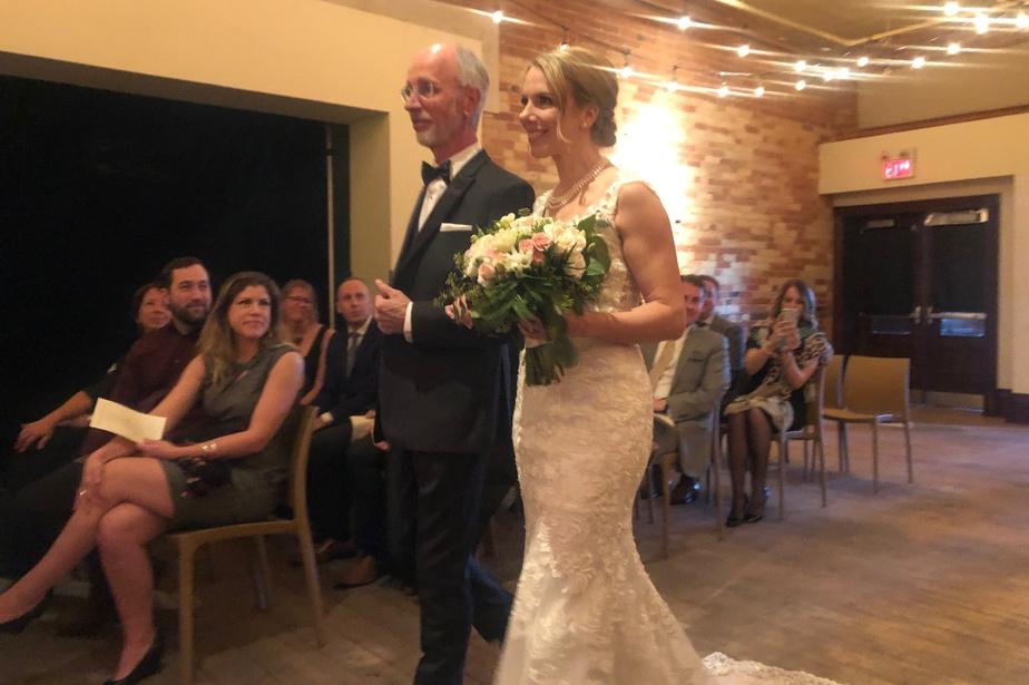 Jour de noces Le 7mars dernier, Michel Lafrance a accompagné sa fille, Myriam, lors de son mariage. «Ce fut le dernier grand rassemblement de famille où on a pu se faire des câlins et s'embrasser, souligne-t-il. C'était la fête. Une semaine plus tard et tout aurait été remis à plus tard.»