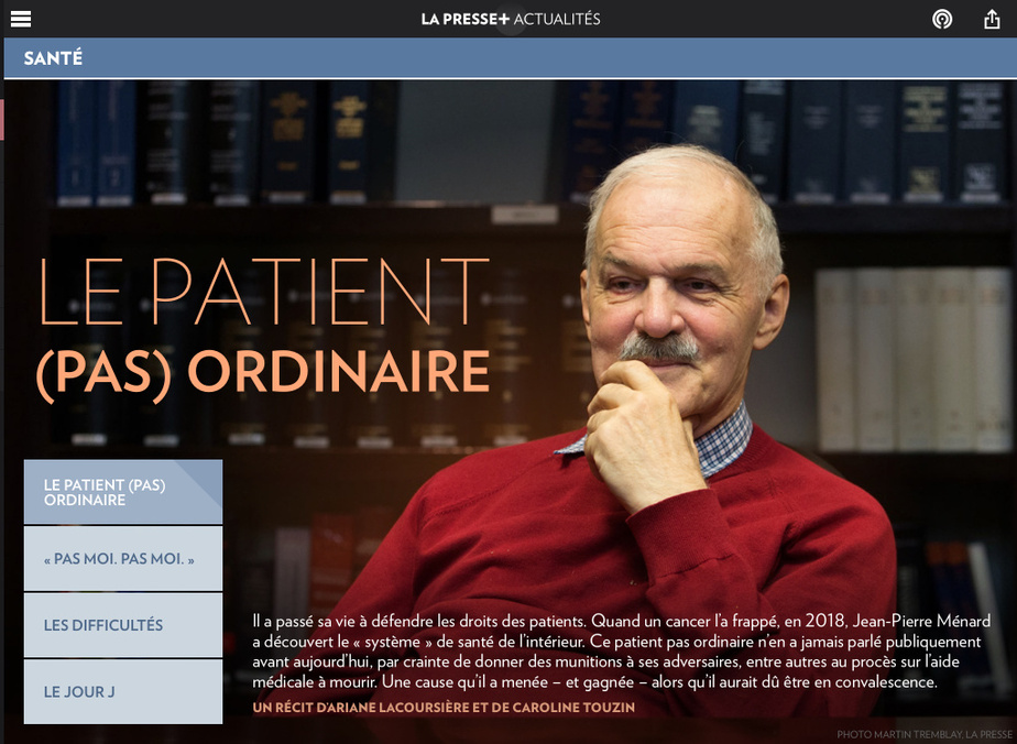 ArianeLacoursière et CarolineTouzin sont finalistes dans la catégorieJustice et faits divers pour «Jean-PierreMénard : le patient (pas) ordinaire».
