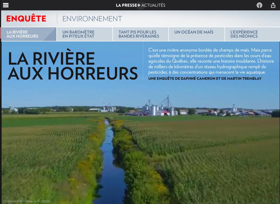 DaphnéCameron est finaliste dans la catégorie Sciences et environnement pour «Pesticides : la rivière aux horreurs».