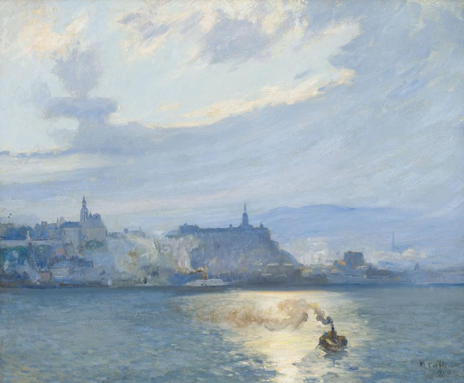 The Ferry, Quebec, 1904, Maurice Galbraith Cullen, huile sur toile, 60cm sur 73cm. Estimée entre 150000 et 250000$.