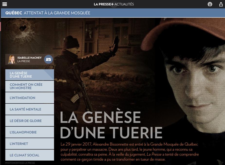 IsabelleHachey est finaliste dans la catégorie Justice et faits diverspour «La genèse d'une tuerie ».