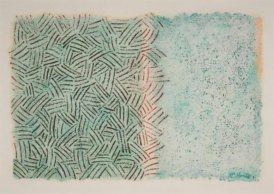 Sans titre, 1981,Robert Houle, pastel à l'huile sur papier, 57cm x 76,7cm. Don de M.Luc LaRochelle. Collection duMusée d'art contemporain de Montréal.