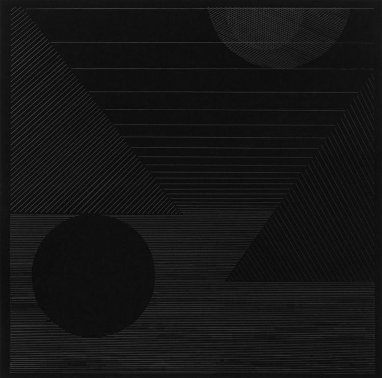 Nuit1, 2020,Mathieu Beauséjour, graphite sur papier, 36cm x 36cm